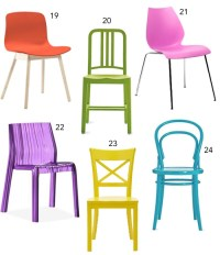 Get the Look: 30 Colorful Dining Chairs - StyleCarrot
