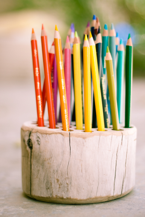Make Your Own Rustic Wood Pencil Holder