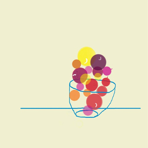 Kitchen Art Fruit Bowl Drawing Mzscreations