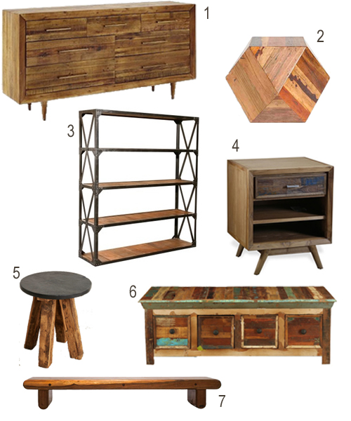 Bedroom Furniture Reclaimed Wood get the look: reclaimed wood bedroom furniture - stylecarrot