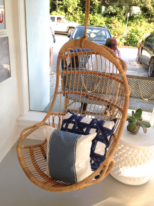 hanging chair serena and lily high cushion for wooden chairs trendy in the studio with u domino cool shopping trip east hampton stylecarrot