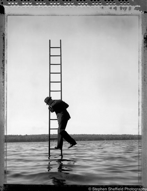 Boston Fine Arts Photographer Stephen Sheffield Ladder In Water