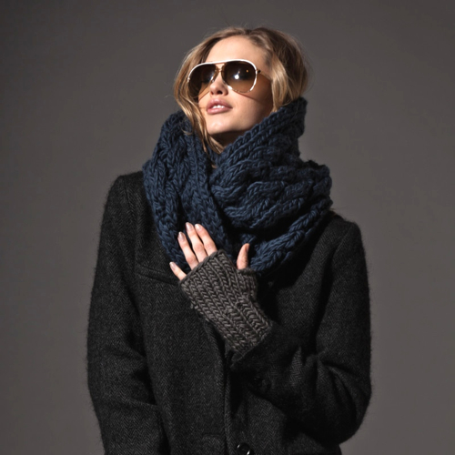 Boston Accessories Designer The Third Piece Chunky Scarf