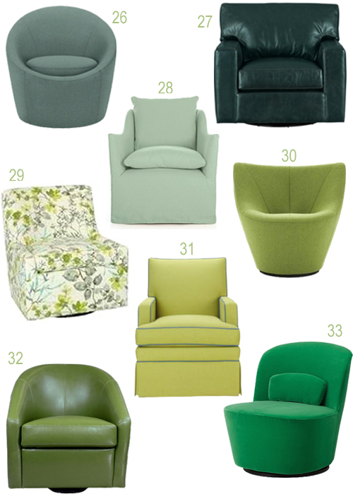 Get the Look Upholstered Swivel Chairs In Every Color