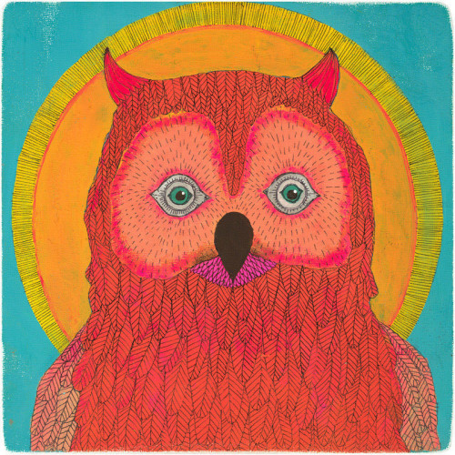 Sunshine Owl Art Print By Lisa Congdon