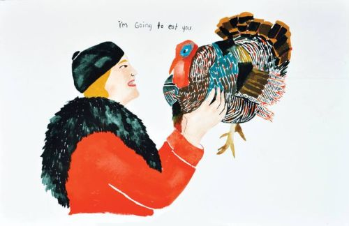 Thanksgiving Art Print Of a Turkey