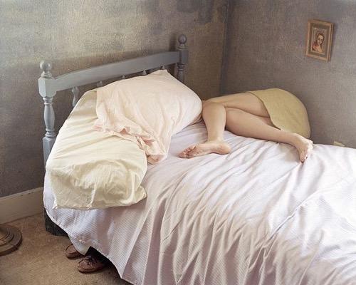 Girl On A Bed By Massachusetts Photographer Anastasia Cazabon