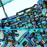 ARTmonday: Colorful Modern Map Art