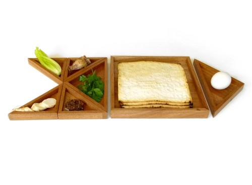 tangram seder plate fish
