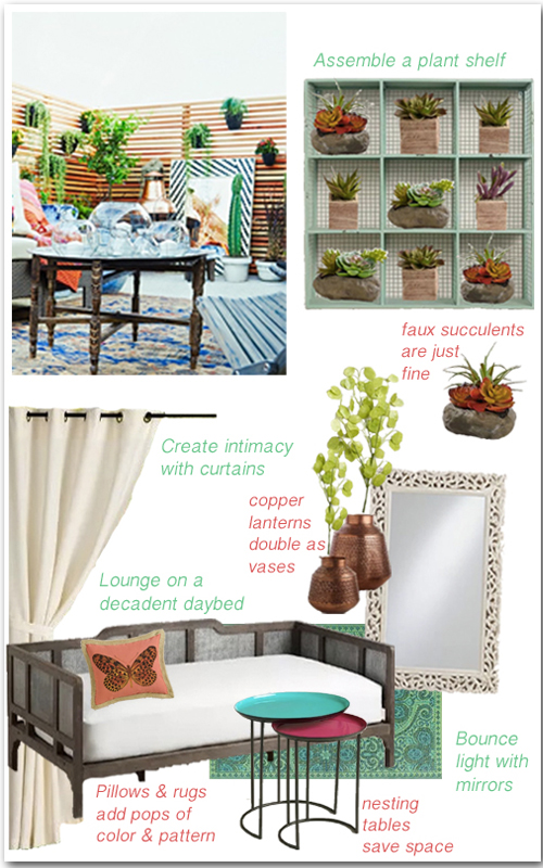 How to Create a Bohemian Style Patio