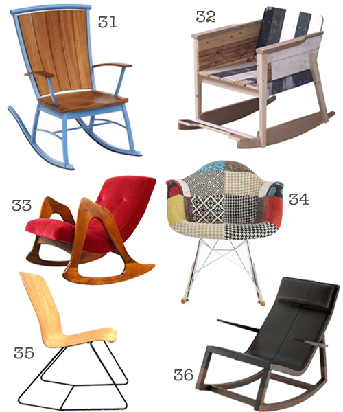 Contemporary & Modern Rocking Chairs