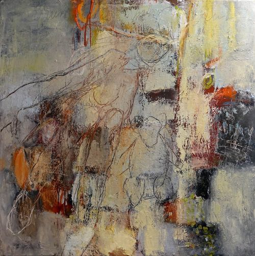 "Abstract Painter Bonney Goldstein ""Run Baby Run"