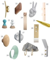 Get the Look: 38 Modern Wall Hooks - StyleCarrot