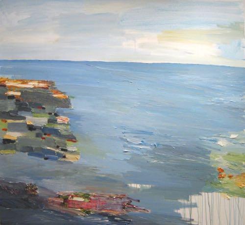 Providence Artist John Vinton Abstract Landscape