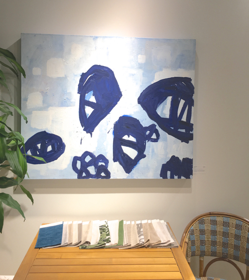 MP Landis Blue Abstract Painting At Webster & Co BDC