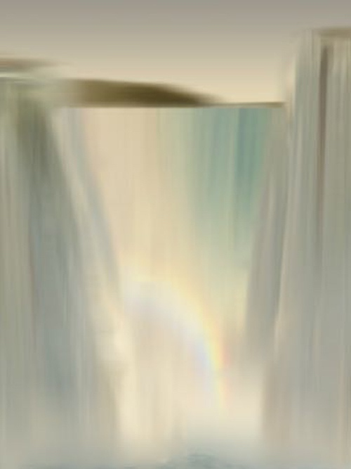 Ted Kincaid Waterfall Painting Schoolhouse Gallery