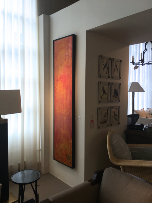 Orange Abstract Painting By Joe Diggs At Webster & Co