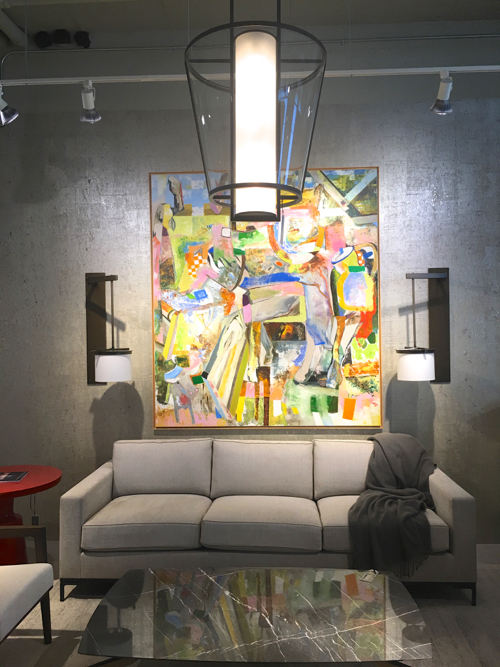 Large Scale Abstract Painting At Webster & Company BDC