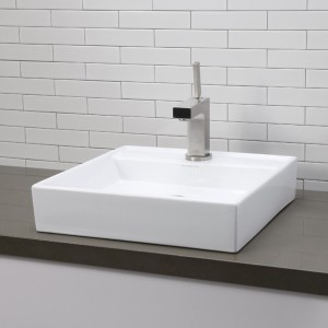 Contemporary Square White Porcelain Sink