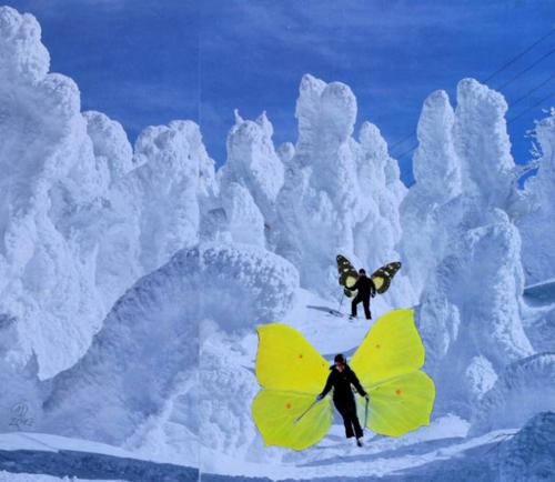 Affordable Artwork Snowy Landscape Collage
