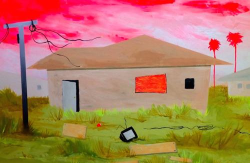 Portland Artist Joanne Graelin Colorful Industrial Landscapes