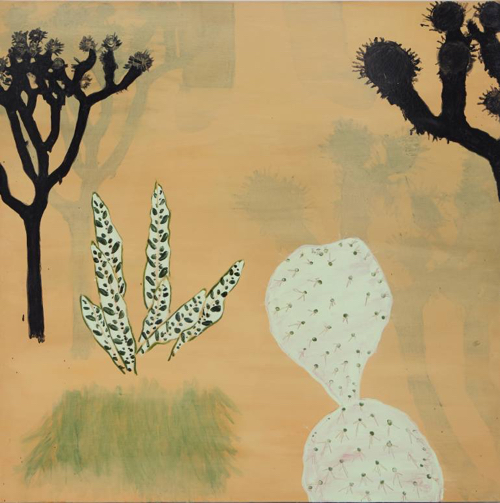 Abstract Cactus Landscape Painting