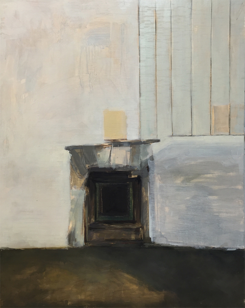 Interior Painting of Room By Ashley Bowersox At MassArt Auction