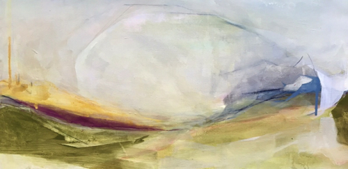 Abstract Landscape Painting By Amanda Hawkins
