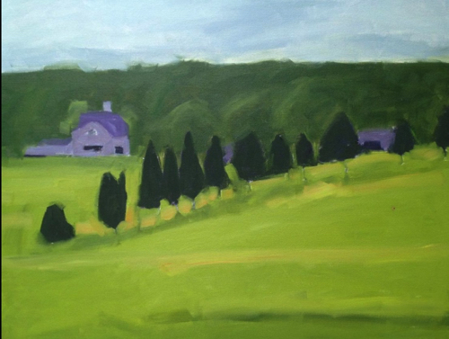 Pastoral Landscape Painting By Sally Lee