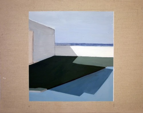 Artist Charlotte Lethbridge's Pool Paintings at The Road Gallery