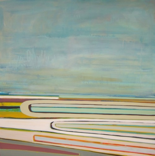 Artist Kelly Neidig's Abstract Landscape Paintings at The Road Gallery