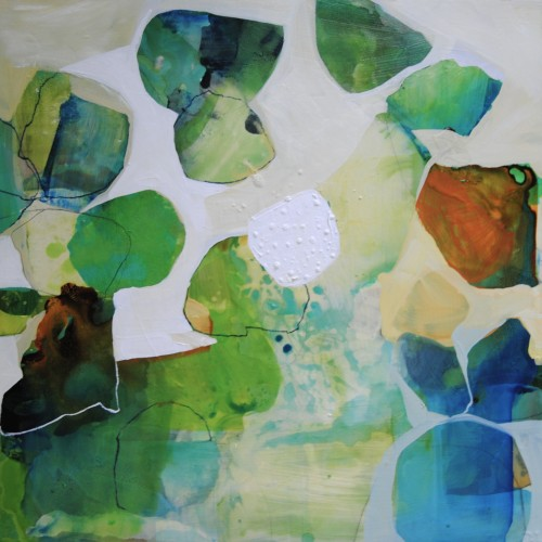Artist Liz Barber's Abstract Paintings at The Road Gallery