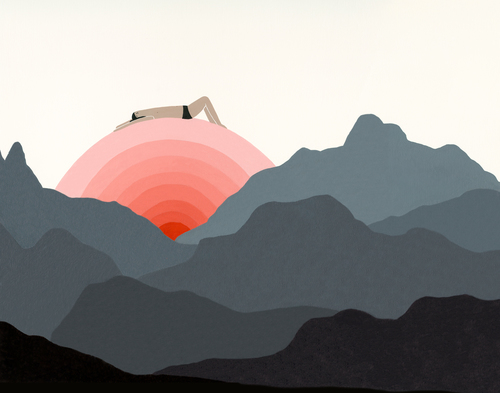 Yoga Sunrise Illustration Laura Berger