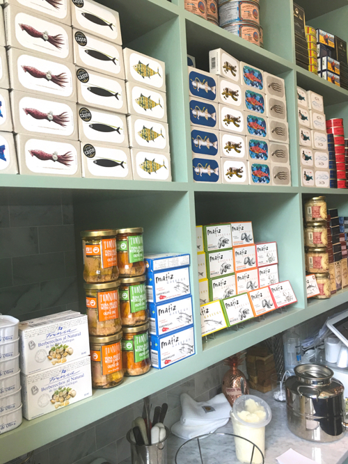 Tinned Fish Display At New Boston Restaurant Saltie Girl