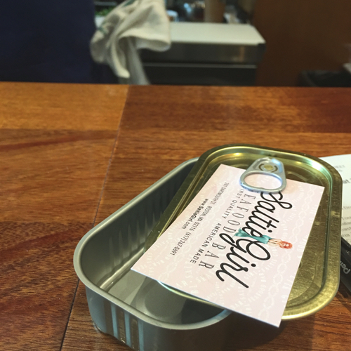 New Back Bay Restaurant Saltie Girl Canned Fish Tin