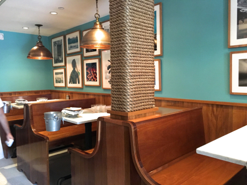 New Back Bay Restaurant Saltie Girl Banquettes Rope Wrapped Column
