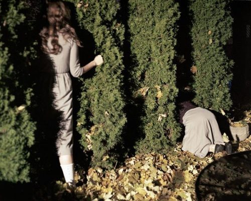 Photographer Anastasia Cazabon Hiding In the Bushes