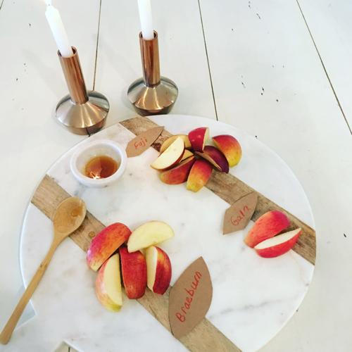 Apples & Honey Platter For Rosh Hashana