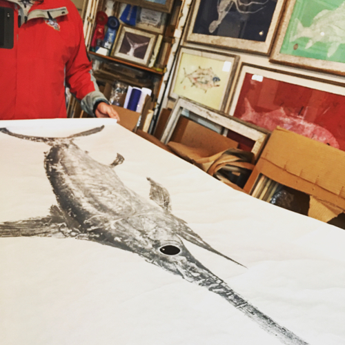 Japanese Fish Prints By Nantucket Artist Peter Van Dingstee