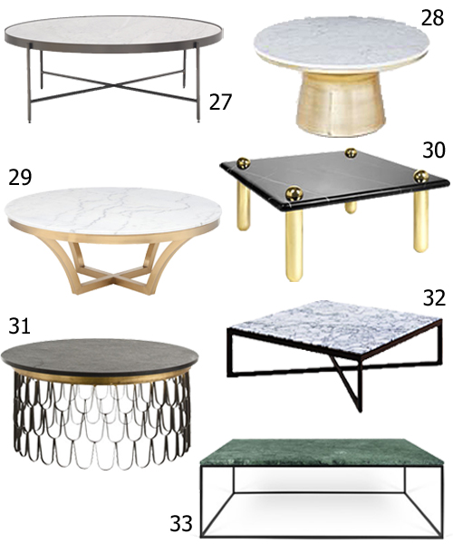 Get The Look 33 Marble Top Coffee Tables Stylecarrot