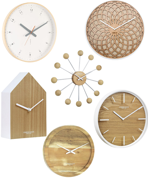 Modern Scandinavian Style Wall Clocks