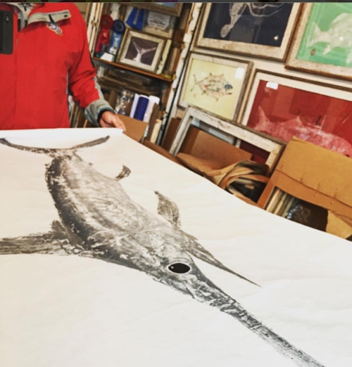 Fish Prints By Pete's Fish Tales On Nantucket