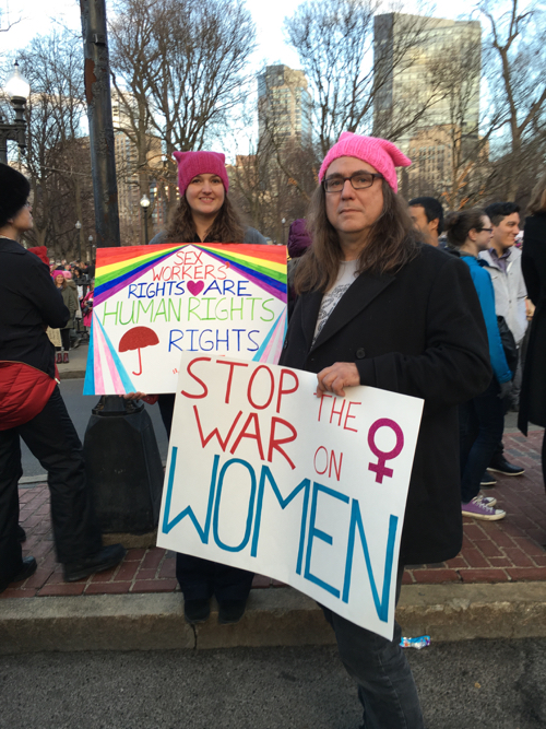 Boston Women's March Sign For Sex Workers