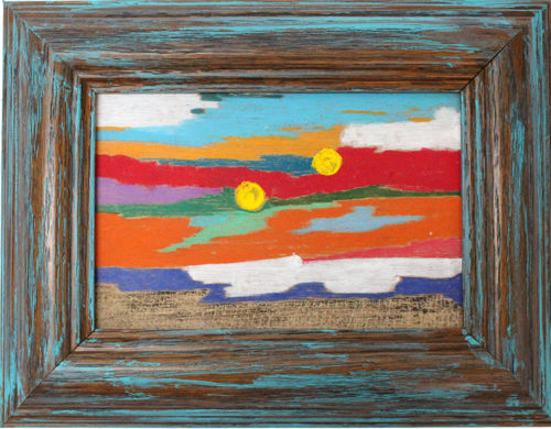 Vibrant Ocean Seascape Painting On Wood