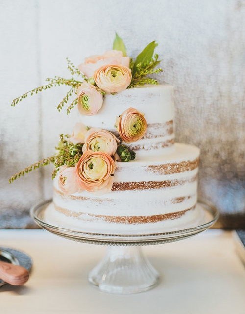 Naked Wedding Cake By Mayflour Confections Boston