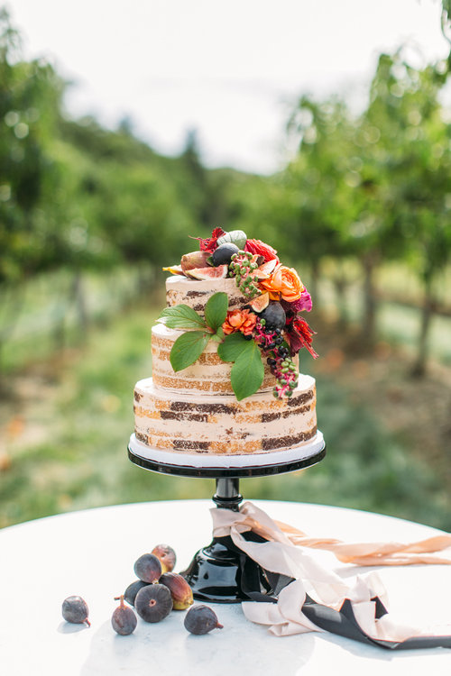 Naked Wedding Cake With Figs By Mayflour Confections Boston