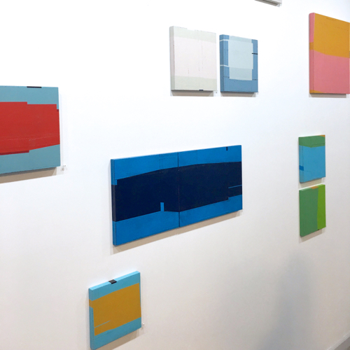 Mixed Media Geometric Abstracts By Babette Herschberger