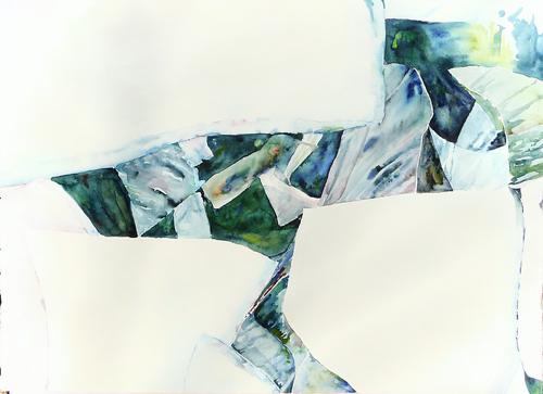 Abstract Arctic Landscape Watercolor Paintings Lisa Goren