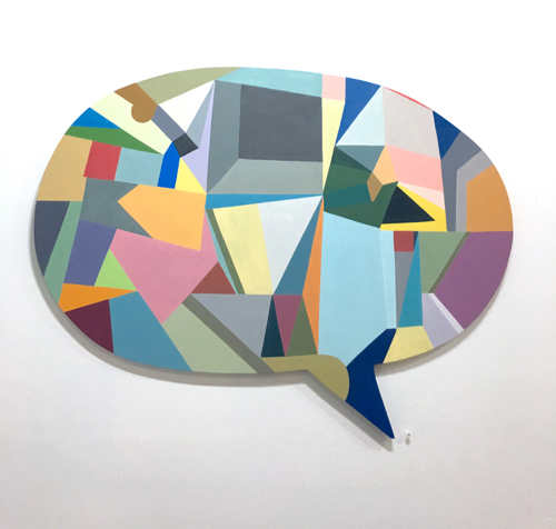 Geometric Abstract Painting By Mike Carroll
