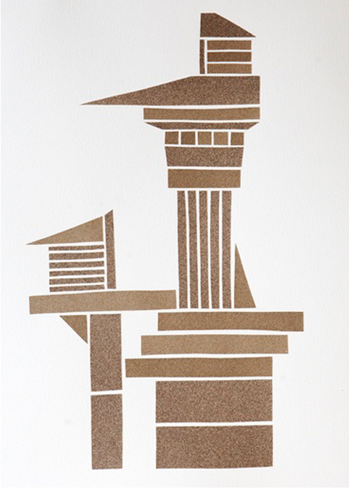 Sandpaper Tower By Brent Refsland At Mass Art Auction